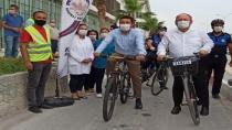 Sağlıklı yaşama dikkat çekmek amacıyla bisiklet turu düzenlendi