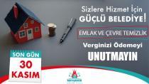 Nevşehir Belediyesinden Emlak Ve Çevre Temizlik Vergisi Uyarısı