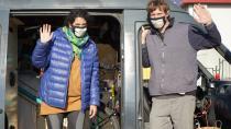 Bisikletle geldikleri Lüleburgaz'a karavanla döndüler