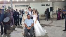 Düğünde gaziler günü kutlaması